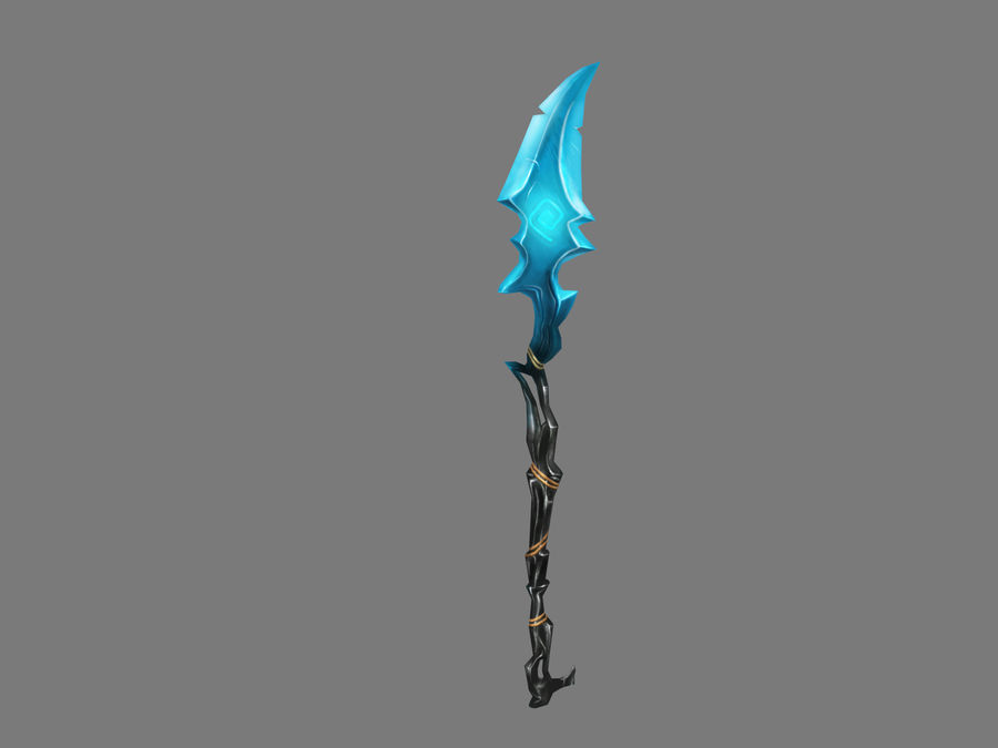 Icy Spear royalty-free 3d model - Preview no. 4