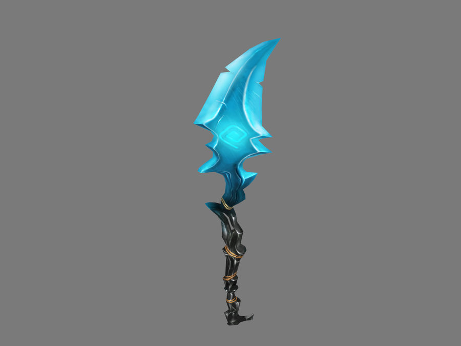 Icy Spear royalty-free 3d model - Preview no. 5