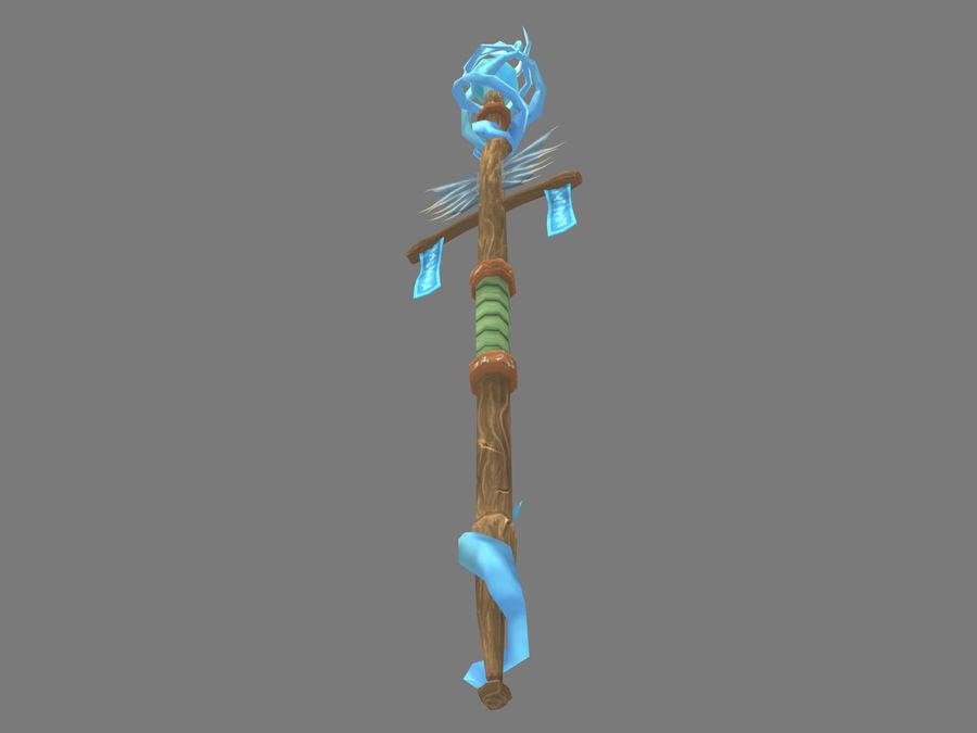Aquatic Staff royalty-free 3d model - Preview no. 6
