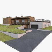 Casa moderna americana 3d model