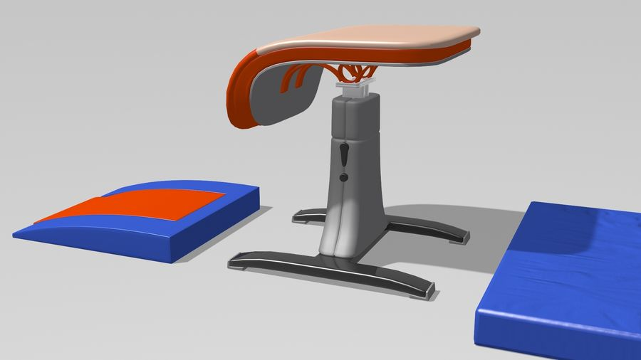 体操器材收藏 royalty-free 3d model - Preview no. 25