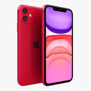 Apple iPhone 11 Vermelho 3d model