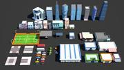 Pacchetto città low poly 3d model