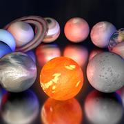 Cartoon solaire 3d model