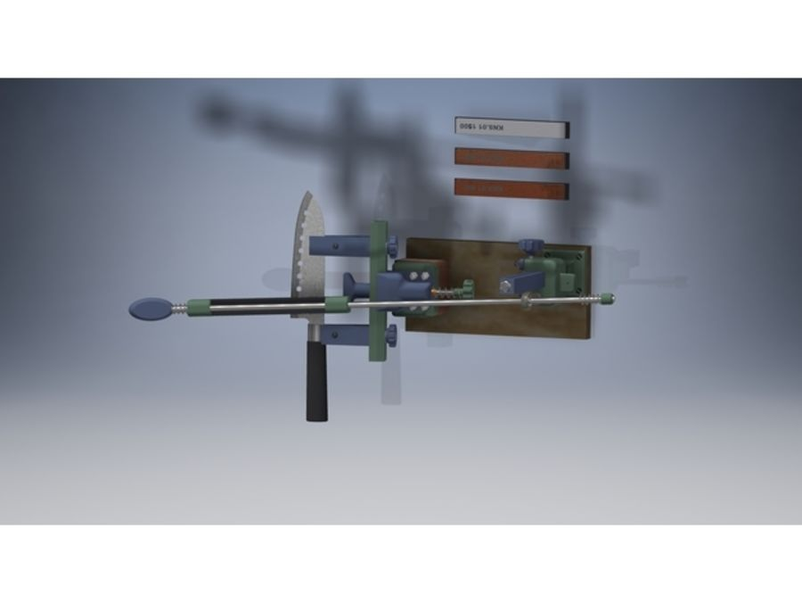 Ostrzarka DRUKARKA 3D royalty-free 3d model - Preview no. 3