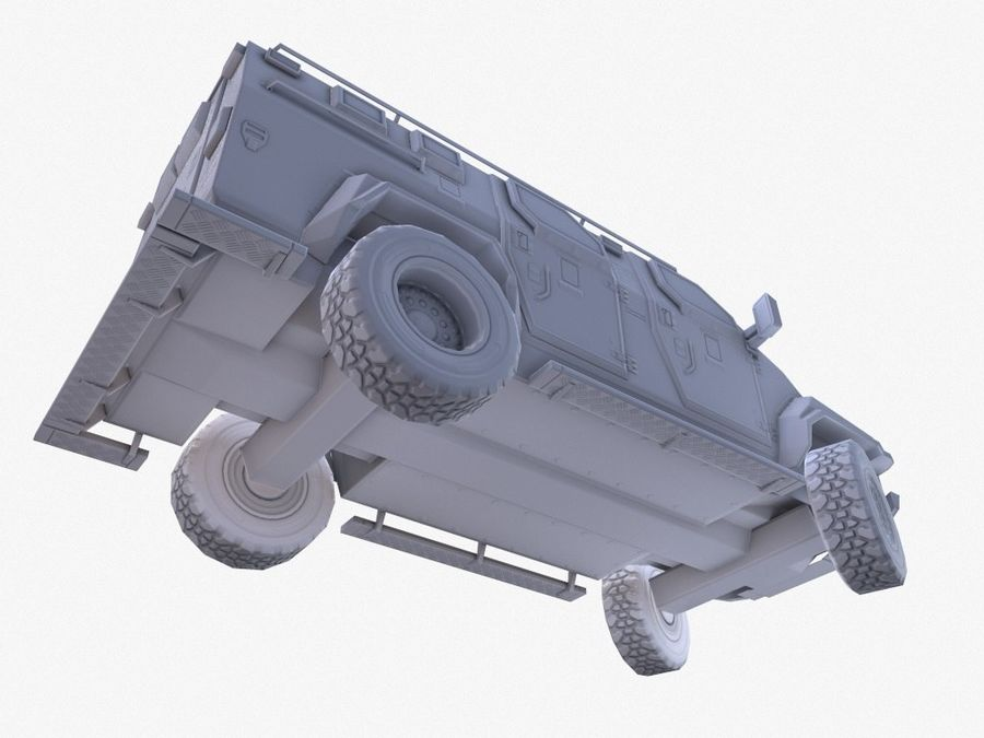 Pit-Bull VX Truck CZARNY royalty-free 3d model - Preview no. 13