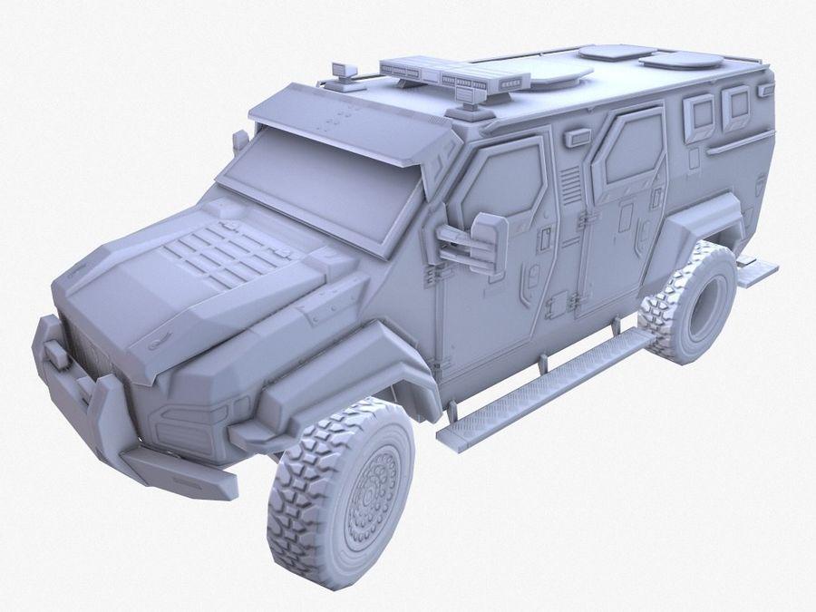 Pit-Bull VX Truck CZARNY royalty-free 3d model - Preview no. 11