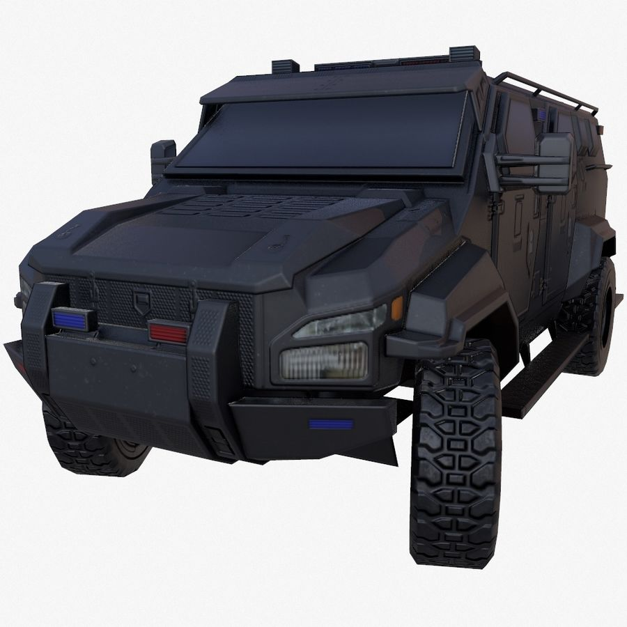 Pit-Bull VX Truck CZARNY royalty-free 3d model - Preview no. 1