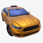 汽车01出租车 3d model