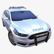 Car 01 Police (NYPD) 3d model