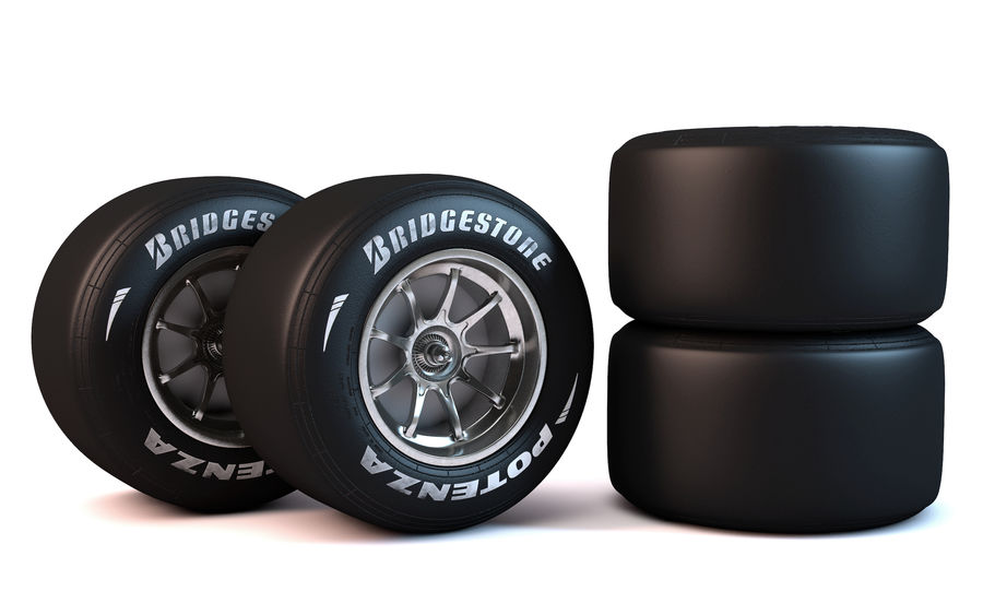 Formula 1 Wheel royalty-free 3d model - Preview no. 1