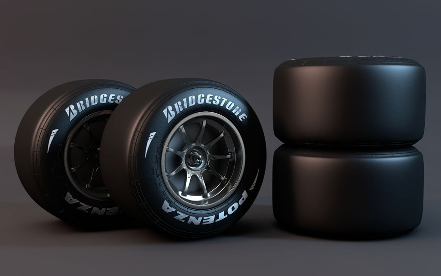 Formula 1 Wheel royalty-free 3d model - Preview no. 2