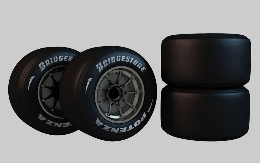 Formula 1 Wheel royalty-free 3d model - Preview no. 5