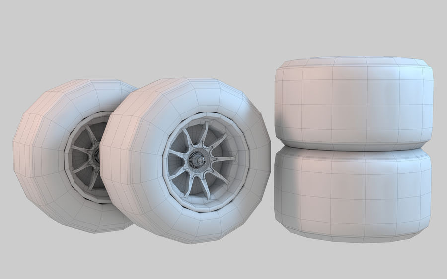 Formula 1 Wheel royalty-free 3d model - Preview no. 7