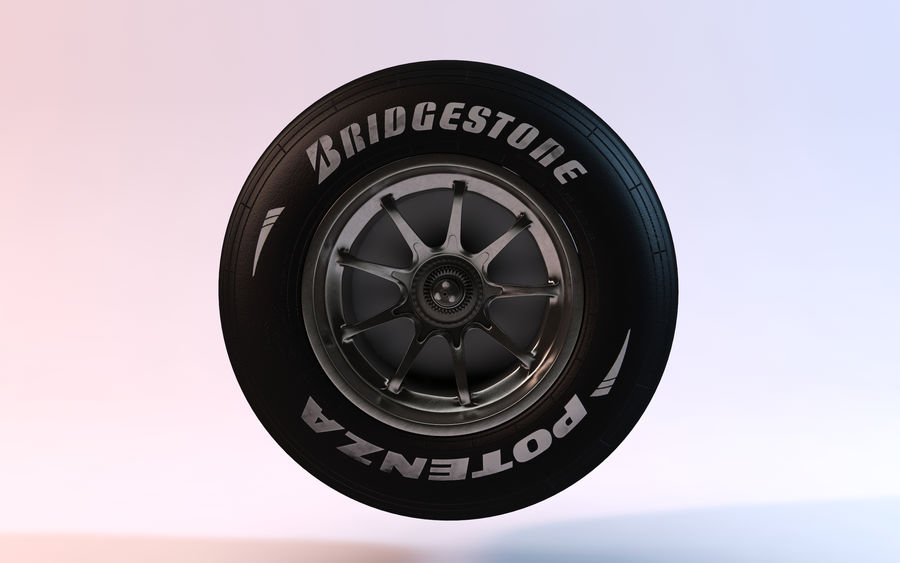 Formula 1 Wheel royalty-free 3d model - Preview no. 3
