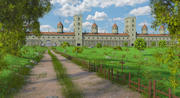 Fantasy Medieval Wall Castle 3d model