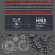Sci fi Grenade Elysium HMX Explosive 3d model