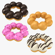 Ring Shaped Donut Collection 3d model