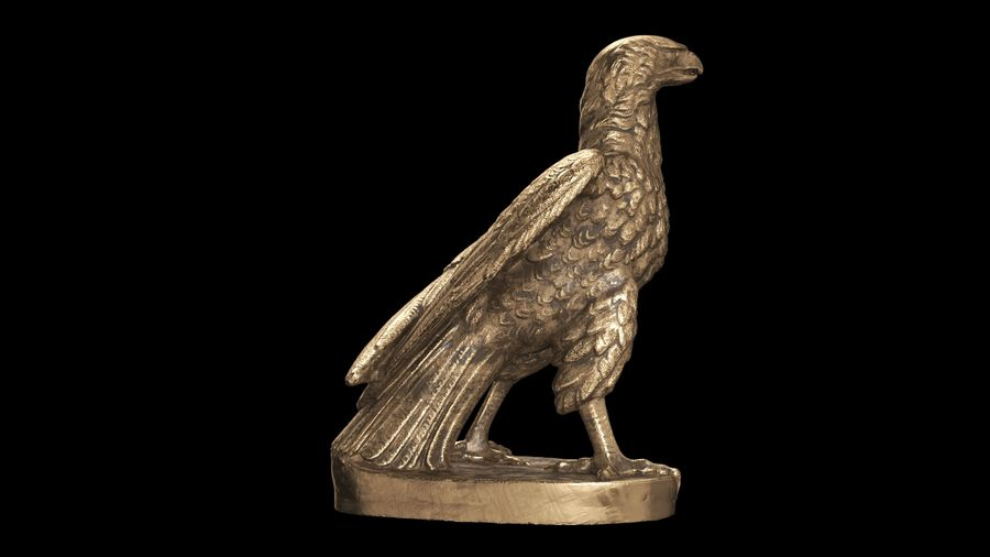 Statuette Eagle 01 royalty-free 3d model - Preview no. 8