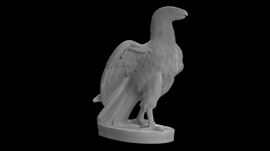 Statuette Eagle 01 royalty-free 3d model - Preview no. 16