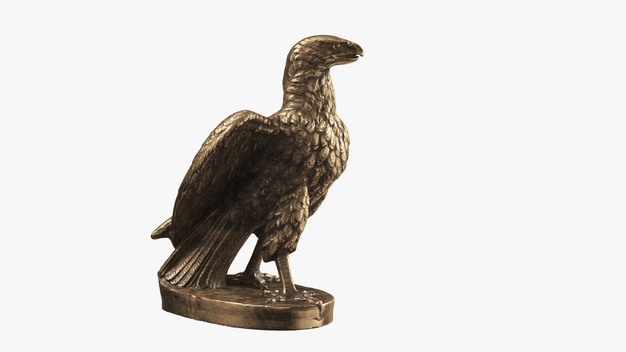 Statuette Eagle 01 royalty-free 3d model - Preview no. 3