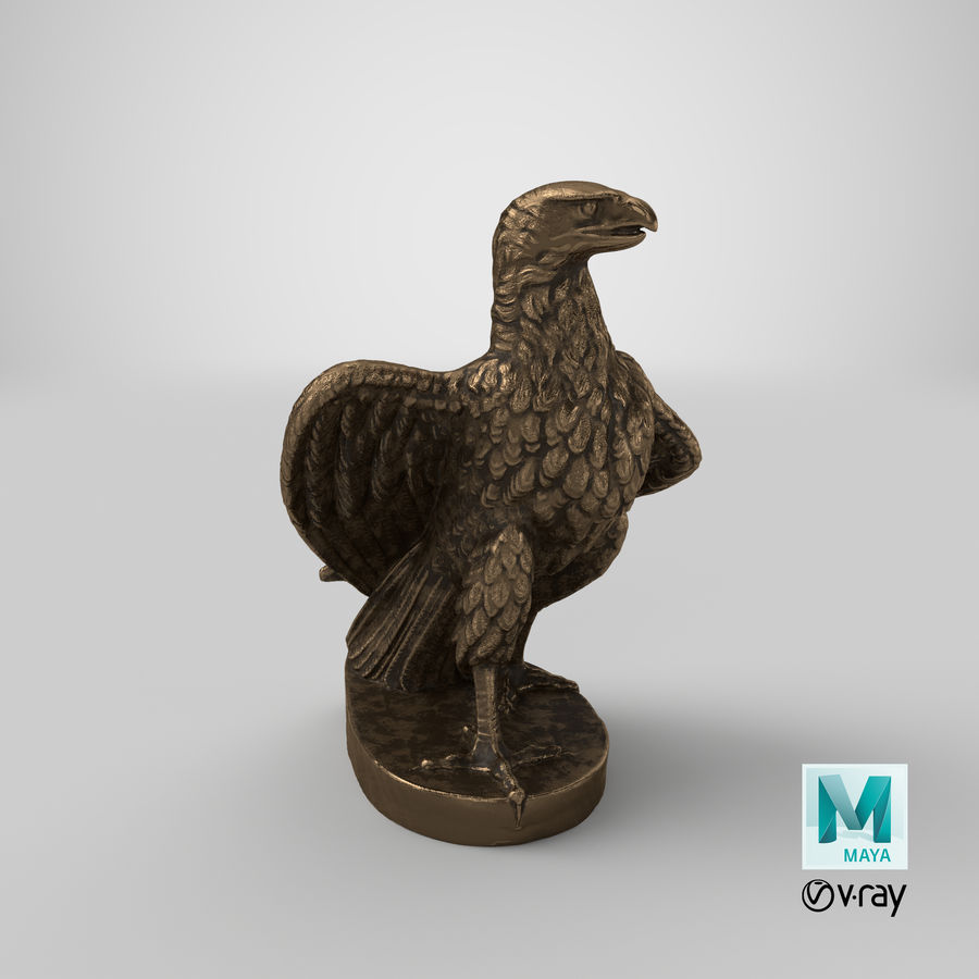 Statuette Eagle 01 royalty-free 3d model - Preview no. 31