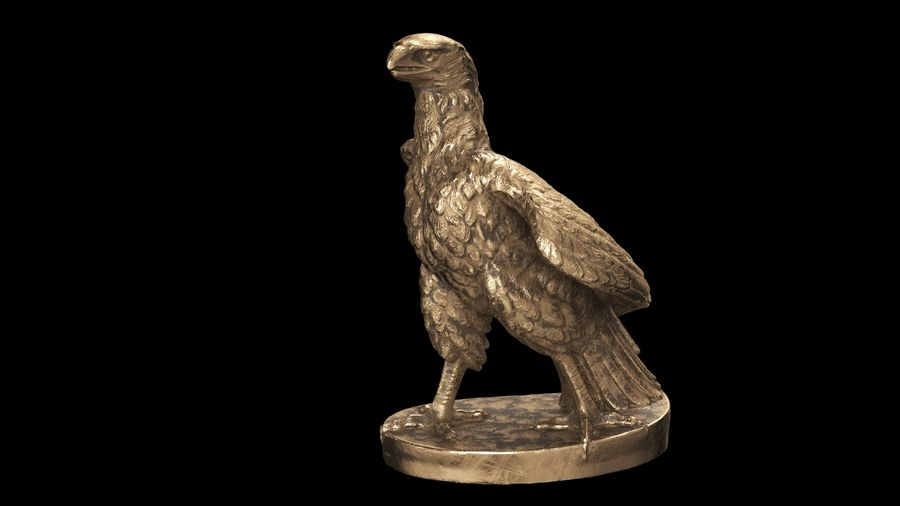 Statuette Eagle 01 royalty-free 3d model - Preview no. 6