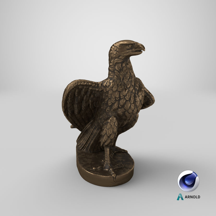 Statuette Eagle 01 royalty-free 3d model - Preview no. 23