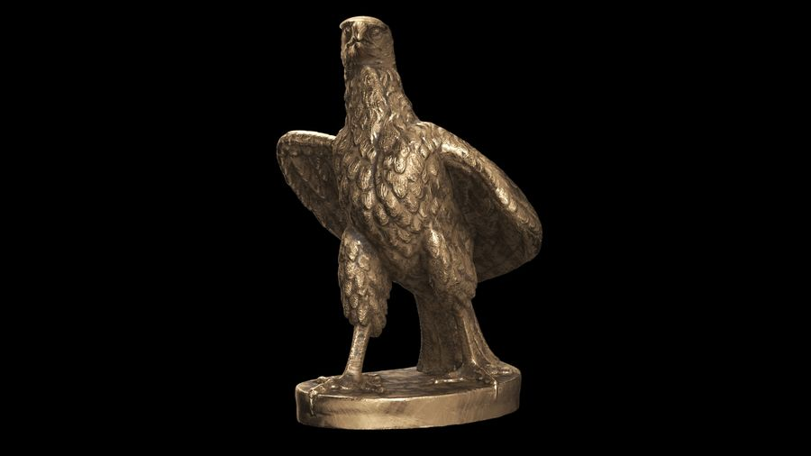 Statuette Eagle 01 royalty-free 3d model - Preview no. 7