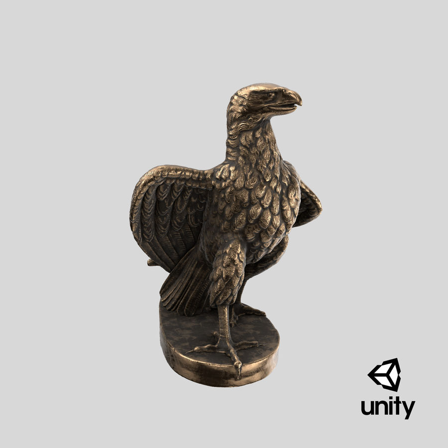 Statuette Eagle 01 royalty-free 3d model - Preview no. 24