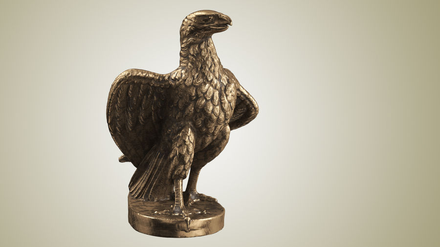 Statuette Eagle 01 royalty-free 3d model - Preview no. 2
