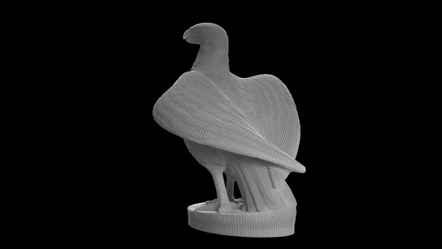 Statuette Eagle 01 royalty-free 3d model - Preview no. 18
