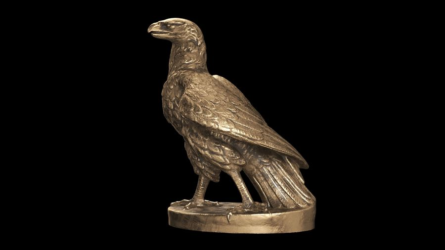 Statuette Eagle 01 royalty-free 3d model - Preview no. 10