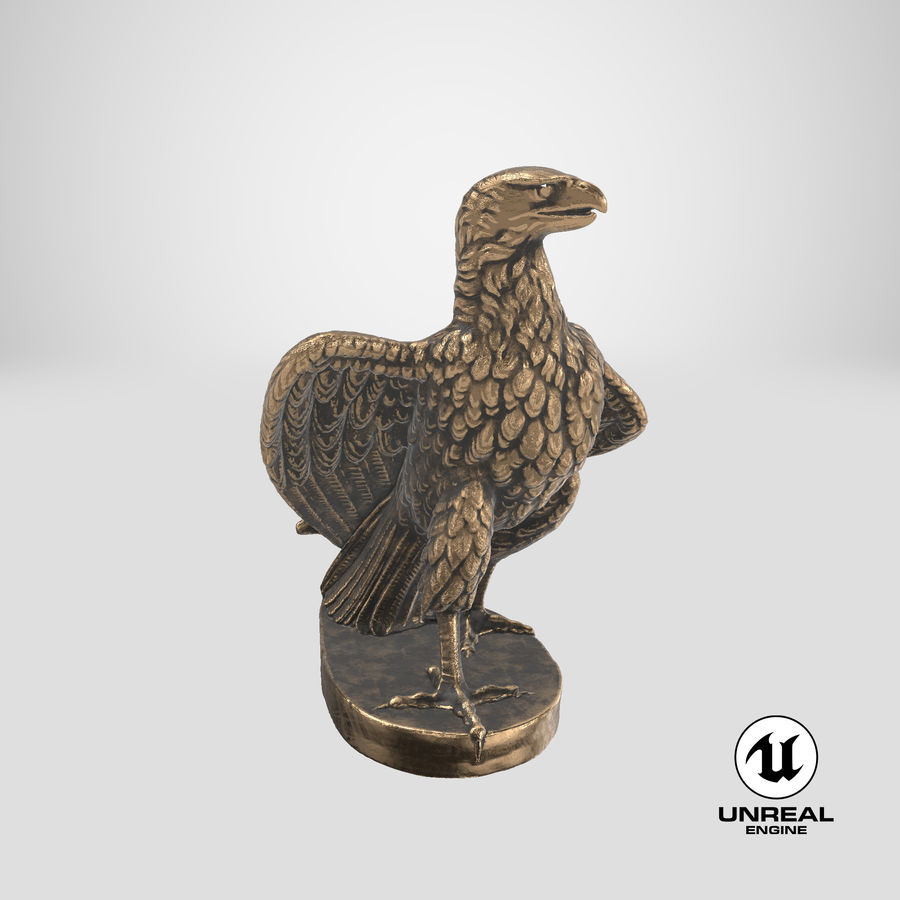 Statuette Eagle 01 royalty-free 3d model - Preview no. 25