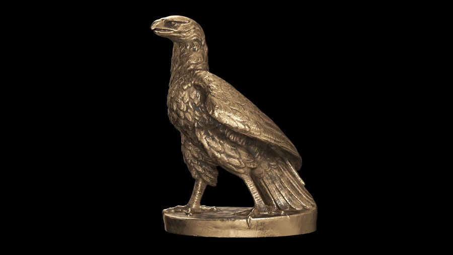 Statuette Eagle 01 royalty-free 3d model - Preview no. 13