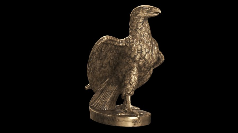 Statuette Eagle 01 royalty-free 3d model - Preview no. 9