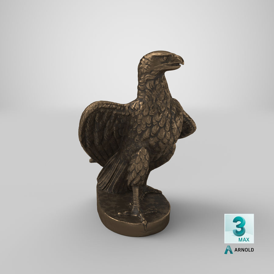 Statuette Eagle 01 royalty-free 3d model - Preview no. 26