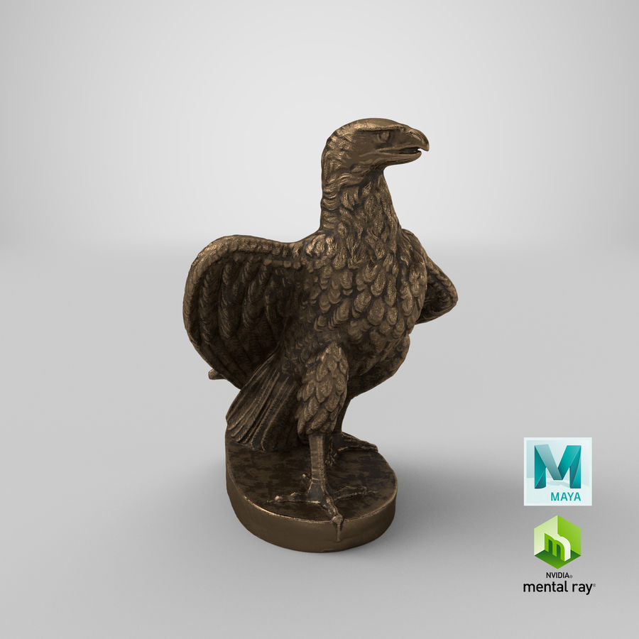 Statuette Eagle 01 royalty-free 3d model - Preview no. 30