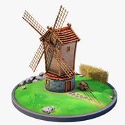 Stylizowany wiatrak 3d model