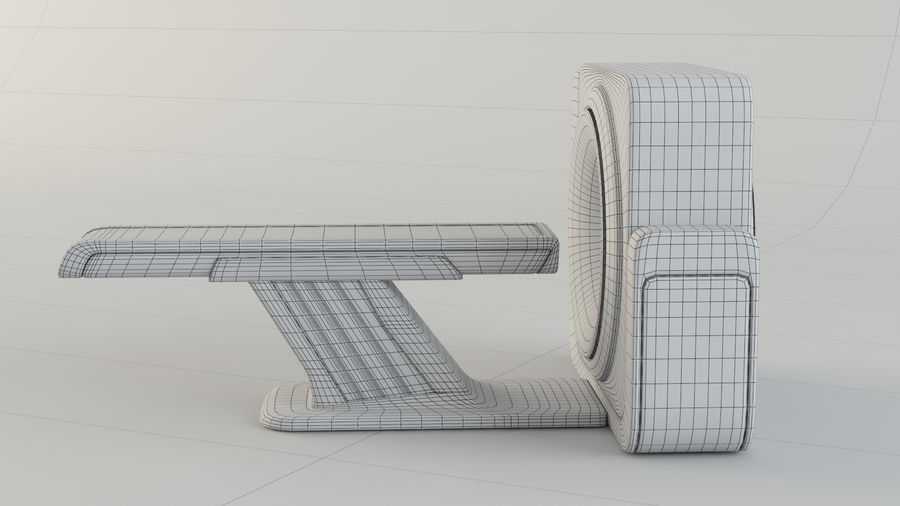 CT-scanner royalty-free 3d model - Preview no. 13