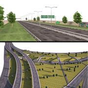 Kolekcje autostrad 3d model