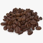 Grãos de café torrados 4 v 2 3d model