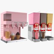 Zwei Eisspender 3d model