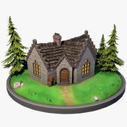Casa escocesa estilizada 3d model