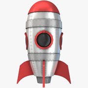 Retro Space Rocket 3d model