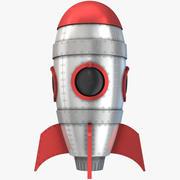 Retro uzay roketi 3d model