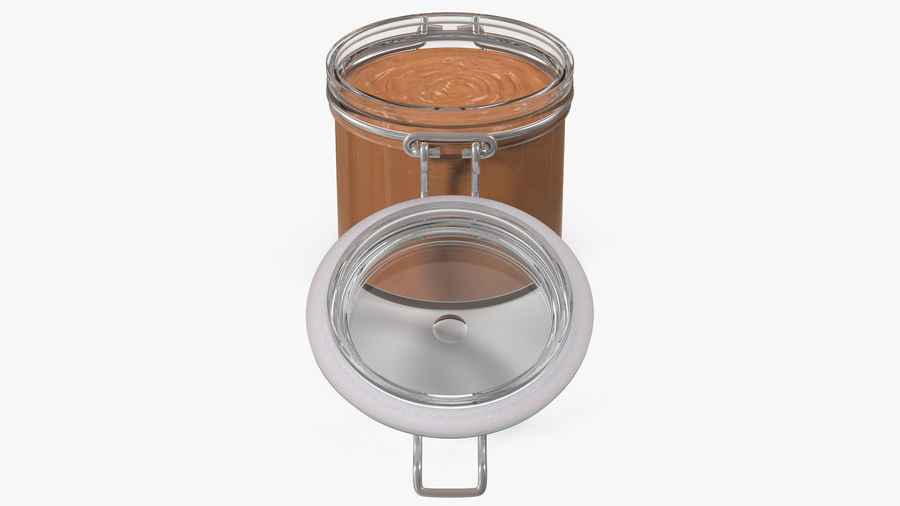 Peanut Butter in a Glass Jar royalty-free 3d model - Preview no. 15