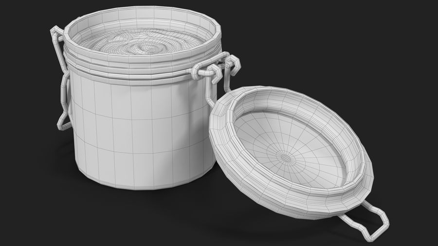 Peanut Butter in a Glass Jar royalty-free 3d model - Preview no. 23