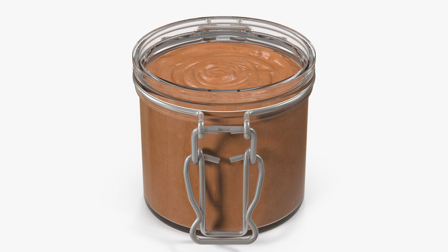 Peanut Butter in a Glass Jar royalty-free 3d model - Preview no. 13