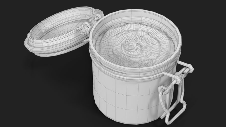 Peanut Butter in a Glass Jar royalty-free 3d model - Preview no. 21